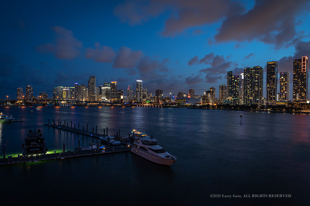Miami Skyline Sunset
